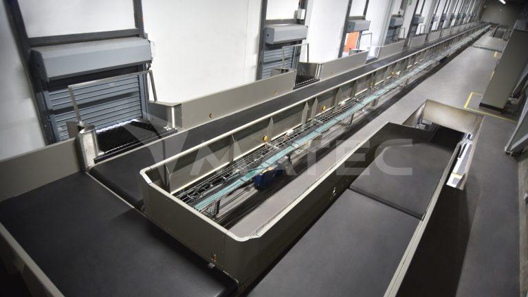 Check in colector conveyor - Security feed line / Banda colectora de Check in – Línea de seguridad